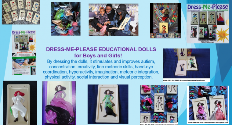 DRESS-ME-PLEASE EDUCATIONAL DOLLS!