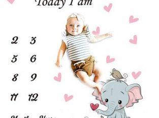 Baby Milestone Blanket – Assorted Designs