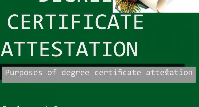 Degree attestation