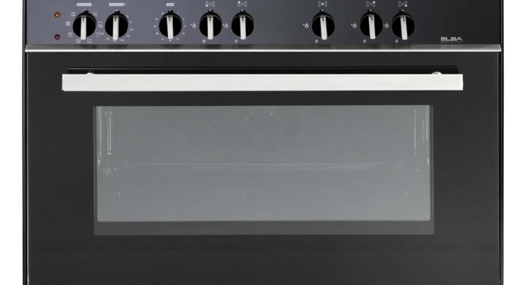 ELBA 90cm 5 Burner Gas Stove/Electric Oven Black –