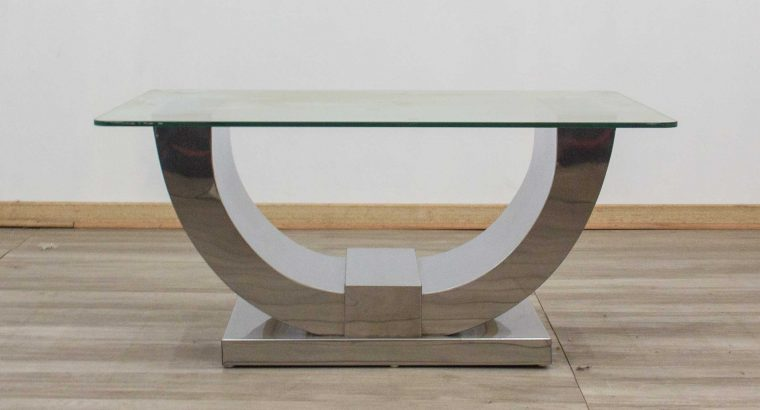 Buy a Glass Coffee Table –Stainless Steel